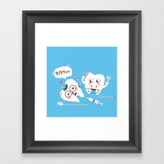 SM Tooth Framed Art Print