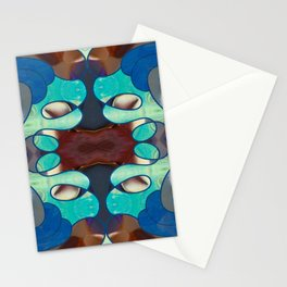 Inspired Blues Abstract Art By Omashte Stationery Cards