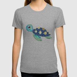 Cute Blue Sea Turtle T-shirt