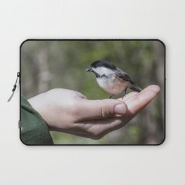 A bird in the hand Laptop Sleeve