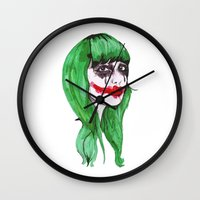 joker Wall Clocks featuring Joker by Annaleigh Louise