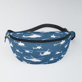 Helicopters on Sapphire Blue Fanny Pack
