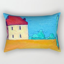 Tuscany Landscape Rectangular Pillow