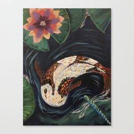 Koi Fish and Dragonfly Canvas Print