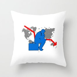 Stock Market Crisis Capitalist Gift Throw Pillow