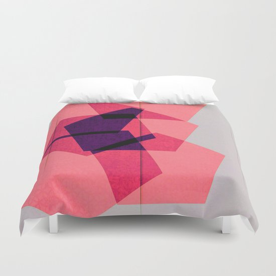 Overlapping Hours Duvet Cover