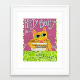 Kitty Buddy Framed Art Print