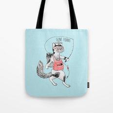 Cat gone Fishing Tote Bag