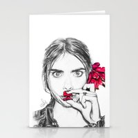 cara Stationery Cards featuring CARA  by Roxanne Jade Dentry