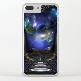 89-123-A9p2 Arsairian 7 Reporting Clear iPhone Case