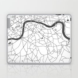 London White on Gray Street Map Laptop & iPad Skin