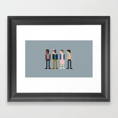 Three Friends & A Stranger Framed Art Print