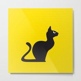 Angry Animals: Cat Metal Print