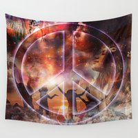 woodstock Wall Tapestries featuring Woodstock Peace by ZiggyChristenson