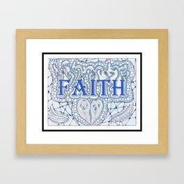 Faith Blue Framed Art Print