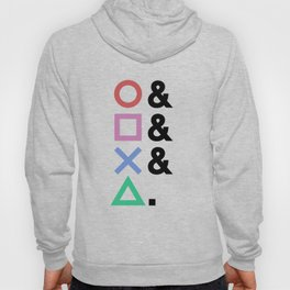 Minimalist Playstation Buttons Black (2K by Gingham Design) Hoody