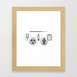 Chemo Super powers! Framed Art Print