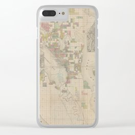 Vintage Map of Seattle WA (1890) Clear iPhone Case