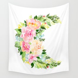 Crescent Bloom Wall Tapestry