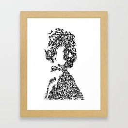Kanji Calligraphy Art :woman's face#12 Framed Art Print
