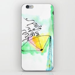 Free like the wind iPhone Skin