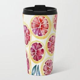 Sliced Grapefruits Watercolor Travel Mug