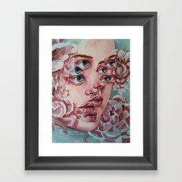 Portrait of flowers Framed Art Print