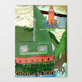 Futuristic Airport Canvas Print