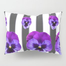 WHITE LILAC & PURPLE PANSY FLOWERS ART Pillow Sham