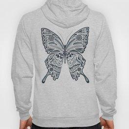 Blue Butterfly Mandala Hoody