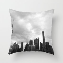 Shanghai - China Throw Pillow