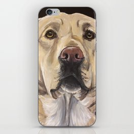Yellow Lab Art, Cute Dog Painting iPhone Skin