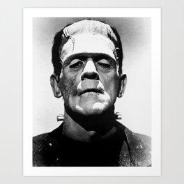 Frankenstein's Monster - Classic Horror Movies Art Print