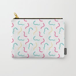 Modern pink teal watercolor hand painted sweet gummy Carry-All Pouch