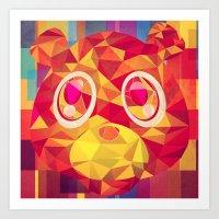 teddy bear Art Prints featuring TEDDY by Original Bliss