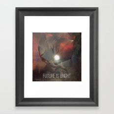 Future is Bright Framed Art Print