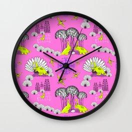 Dinosaurs Love Wall Clock