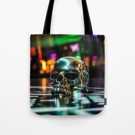 Rainbow Skull Ring Tote Bag