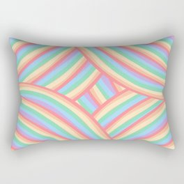 Rainbow Stripes 6 Rectangular Pillow