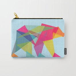 Fractal Bear - neon colorways Carry-All Pouch