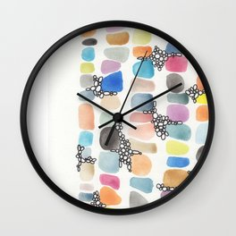 colorful stones Wall Clock