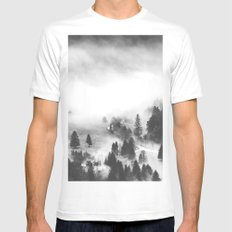 Ghostly Mens Fitted Tee MEDIUM White