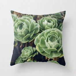 Green Succulent Photo Throw Pillow