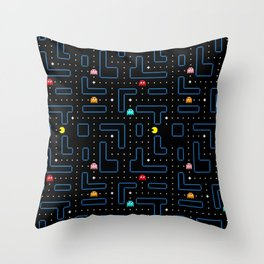 Pac-Man Retro Arcade Gaming Design Throw Pillow