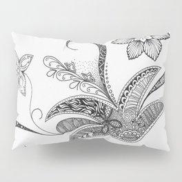 Floral Zentangle Pillow Sham