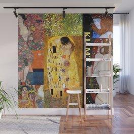 Klimt Collage Wall Mural