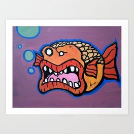 Bob the Goldfish Art Print