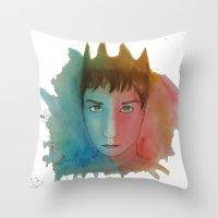 ben giles Throw Pillows featuring Ben by unicorned
