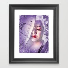 The Geisha With White Hair Framed Art Print