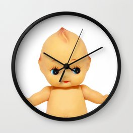 Cute little naked baby doll. Wall Clock